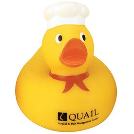 Custom Gourmet Chef Rubber Duck