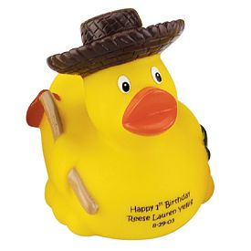 Promotional Gardener Rubber Duck