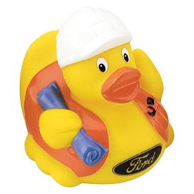 Promotional Safety Hard Hat Worker Rubber Duck