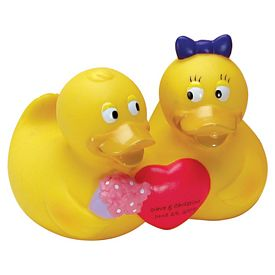 Promotional Valentine Happy Couple Rubber Duck
