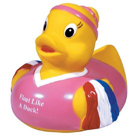 Promotional Pom Pom Girl Rubber Duck