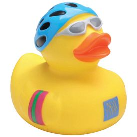 Promotional Cyclist Rubber Duck
