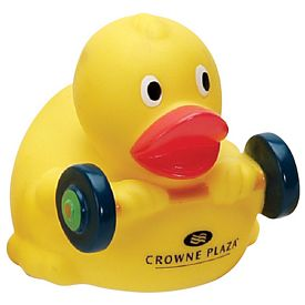 Custom Weight-Lifting Rubber Duck