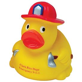 Custom New Fireman Rubber Duck