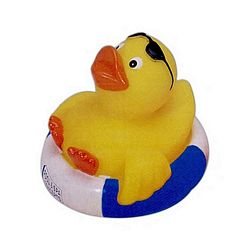 Customized Blue White Tube Vacationer Rubber Duck