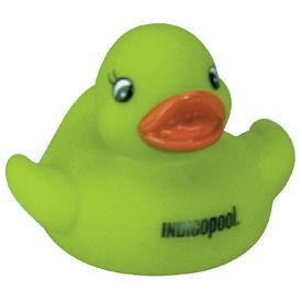 Custom Green Cutie Rubber Duck