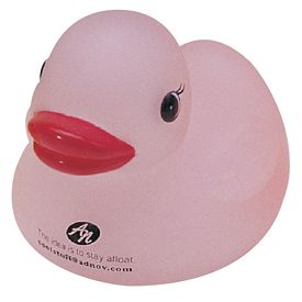 Promotional Translucent Pink Popular Rubber Duck
