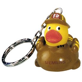 Promotional Fire Fighter Ducky Key Ring