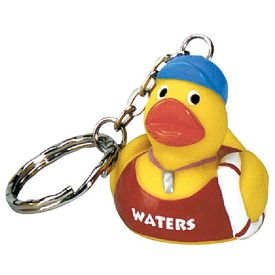 Promotional Life Guard Ducky Key Ring
