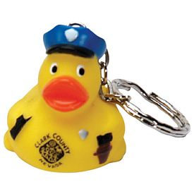 Custom Police Duck Key Ring