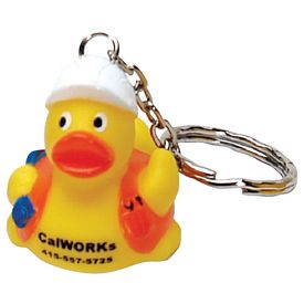 Custom Safety Worker Hard Hat Ducky Key Ring