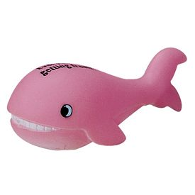 Customized Pink Whale Rubber Toy