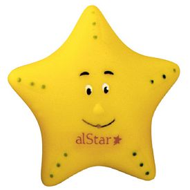 Promotional Yellow Star Fish Rubber Toy