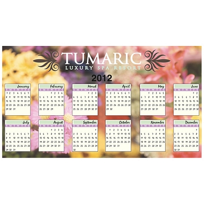 Promotional Bic Large Calendar Magnets 4X7