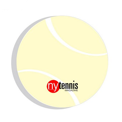 Promotional Bic 3X3 Tennis Ball Die-Cut Sticky Notes