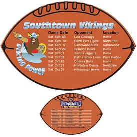 Custom Bic Football Shaped Magnet Football Schedule