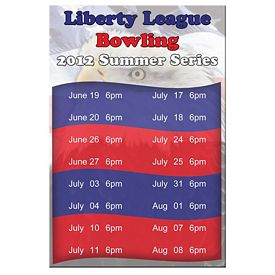 Promotional Bic Rectangle Patriotic Sports Schedule