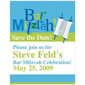 Custom Bic Save The Date Bar Mitzvah Indentation Magnet
