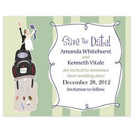 Promotional Bic Save A Date Wedding Magnet
