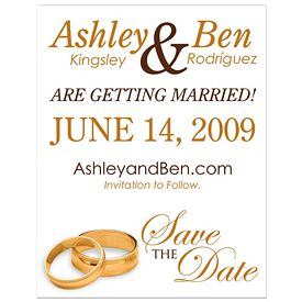 Promotional Bic Save A Wedding Date Magnet With Wedding Rings