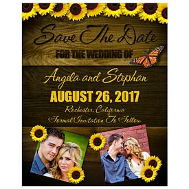Promotional Bic Save The Date Wood Wedding Annoucement Magnet