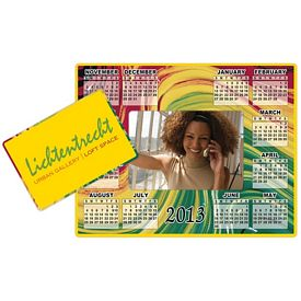 Promotional Bic 2-In-1 Picture Thick Frame Calendar Magnet