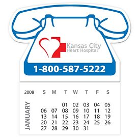 Customized Bic Telephone Magnet With 12 Sheet Calendar