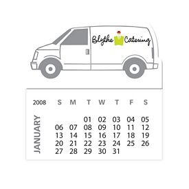 Custom Bic Van Truck Magnet With 12 Sheet Calendar