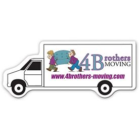 Customized Bic Moving Truck Magnet