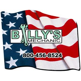 Promotional Bic Flag Die-Cut Mouse Pad