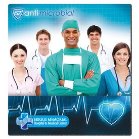 Custom Bic 75X8 Antimicrobial Fabric Surface Mouse Pad