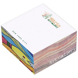 Customized Bic 3X3X15 Non-Adhesive Note Cube