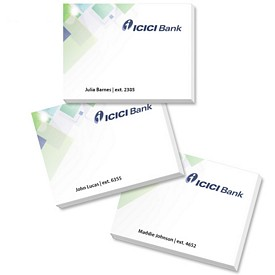 Custom Bic 4X3 Name Personalization Sticky Notes 50 Sheets