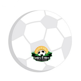 Promotional BIC 3x3 Soccer Ball Die-Cut Sticky Notes