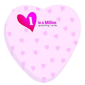 Customized Bic 3X3 Heart Die-Cut Sticky Notes