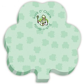 Promotional BIC 3x3 Shamrock Die-Cut Sticky Notes