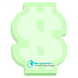 Custom Bic 4X3 Dollar Sign Die-Cut Sticky Notes