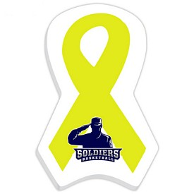 Promotional Bic 4X6 Support Our Troops Yellow Ribbon Die-Cut Sticky Notes