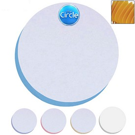 Custom Bic 3X3 Circle Adhesive Spring Die-Cut Sticky Note
