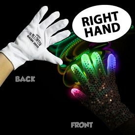 Promotional Flashing LED Rock Star Glove