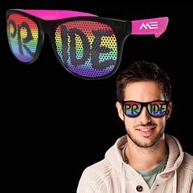 Promotional Rainbow Pride Neon Pink Billboard Sunglasses