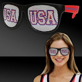 Promotional USA Red Neon Billboard Sunglasses