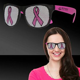 Promotional Pink Ribbon Neon Pink Billboard Sunglasses