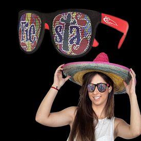 Promotional Fiesta Neon Red Billboard Sunglasses