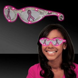 Promotional Pink Ribbon Pink LED Billboard Sunglasses