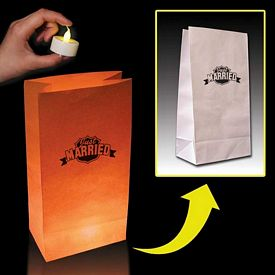 Promotional White Luminary Bags