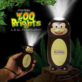 Promotional Monkey Zoo Brights Flashlight
