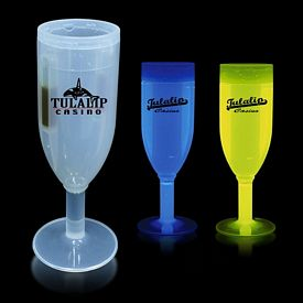 Promotional 4-1/2 oz Glow Champagne Flute