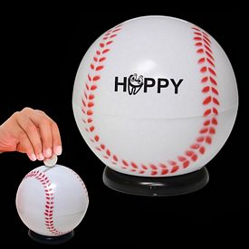 Promotional 3-1/2'' Baseball Sports Bank