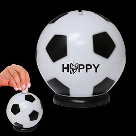 Promotional 3-1/2'' Soccer Ball Sports Bank